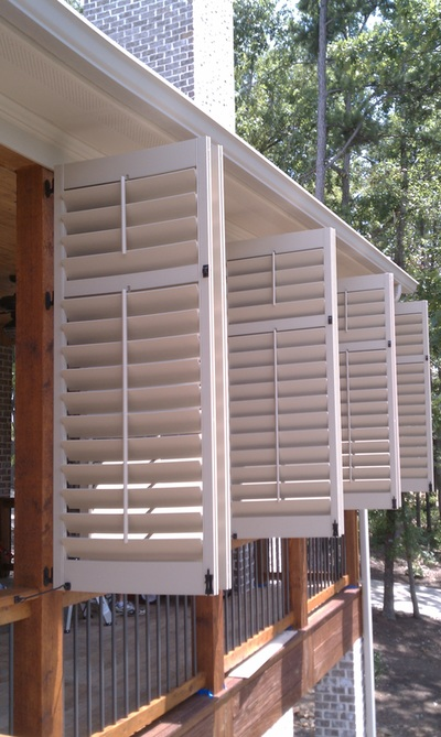 Porch Exterior Shutters Palmetto Window Fashions