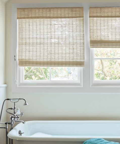 Window shades palmetto window fashions shutters for Smith and noble natural woven shades