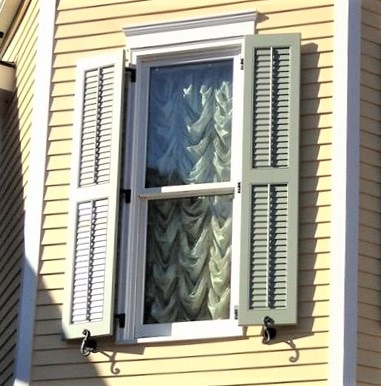 Louvered Exterior Shutters - Palmetto Window Fashions - Shutters ...