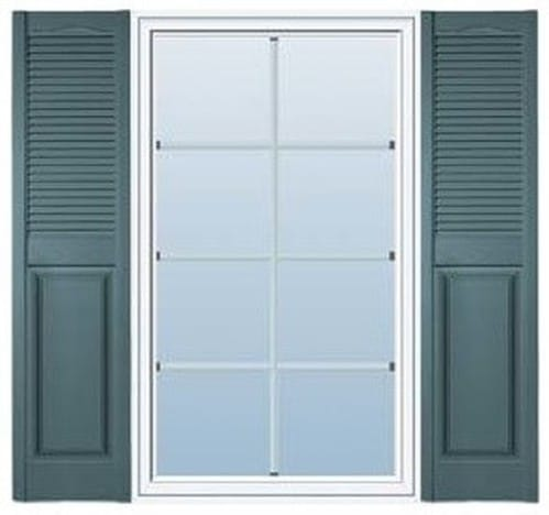 Combination Amp Cutout Exterior Shutters Palmetto Window