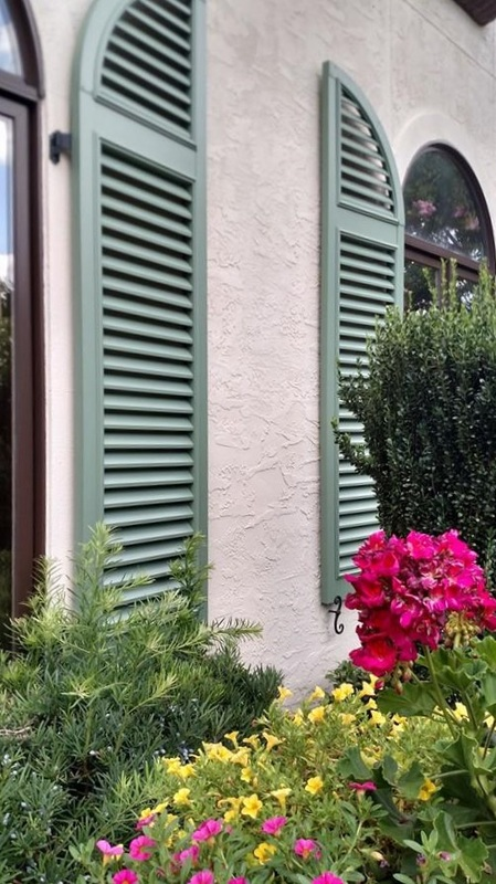 Louvered Exterior Shutters Palmetto Window Fashions