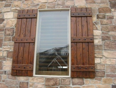 Board & Batten Exterior Shutters - Palmetto Window Fashions ...