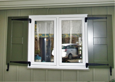 Flat Panel Exterior Shutters Palmetto Window Fashions