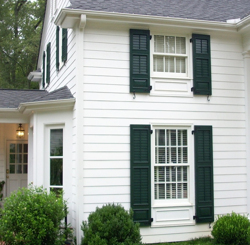 Louvered Exterior Shutters Palmetto Window Fashions Shutters Shades Blinds Drapery Greenville Sc
