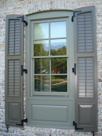 Louvered Exterior Shutters Palmetto Window Fashions Shutters