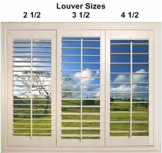 Plantation Shutter Design Details Palmetto Window