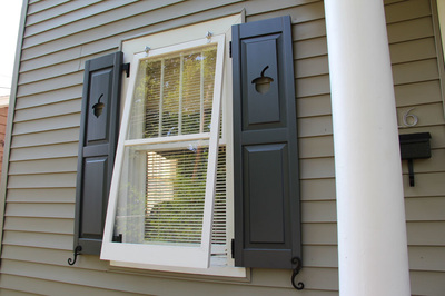 Combination Cutout Exterior Shutters Palmetto Window